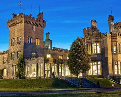 Dromoland Castle at night