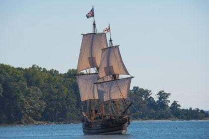 Saint Patrick boarded a ship to Britain