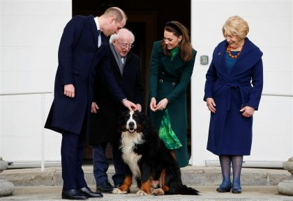 William and Kate Meet Brod the Dog