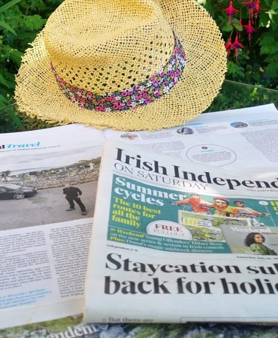 Irish Independent media coverage of Ireland Chauffeur Travel, July 2020