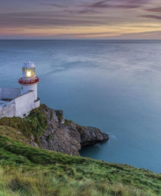 Wicklow Lighthouse in Ireland